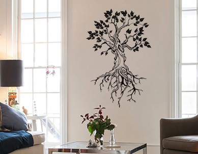 Beautiful root tree Wall Sticker