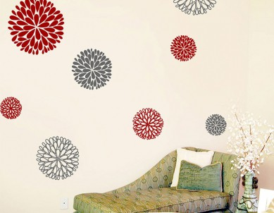 Floral Patterns Wall Sticker