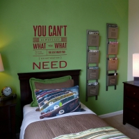 You Cant Always Get What you Want Teen room sticker