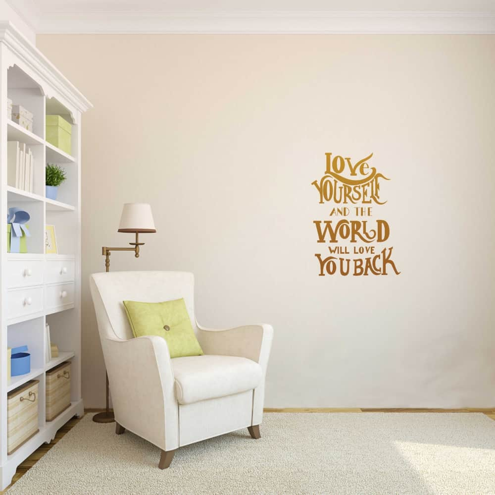 love yourself Living3 room sticker