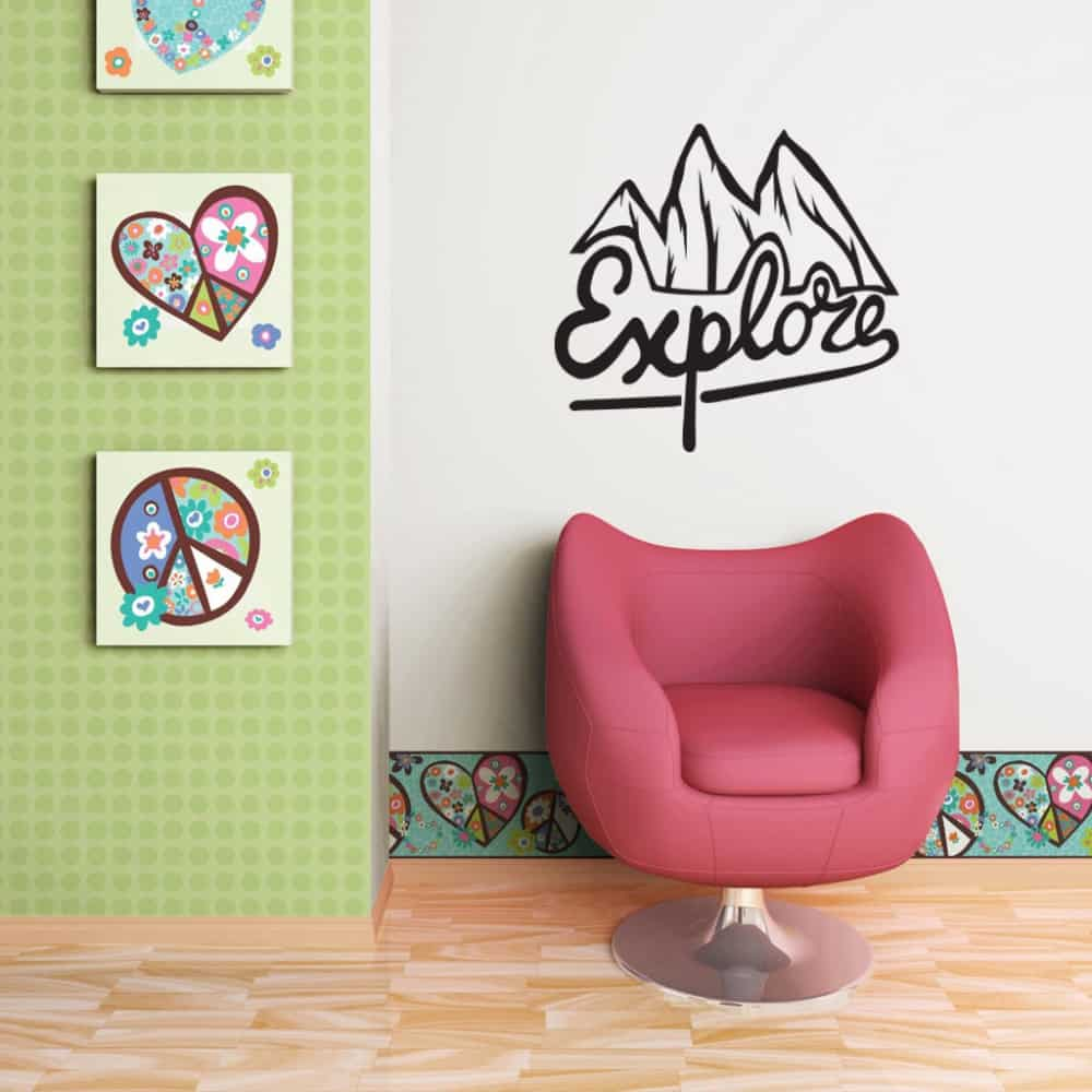 Explore Teen room sticker