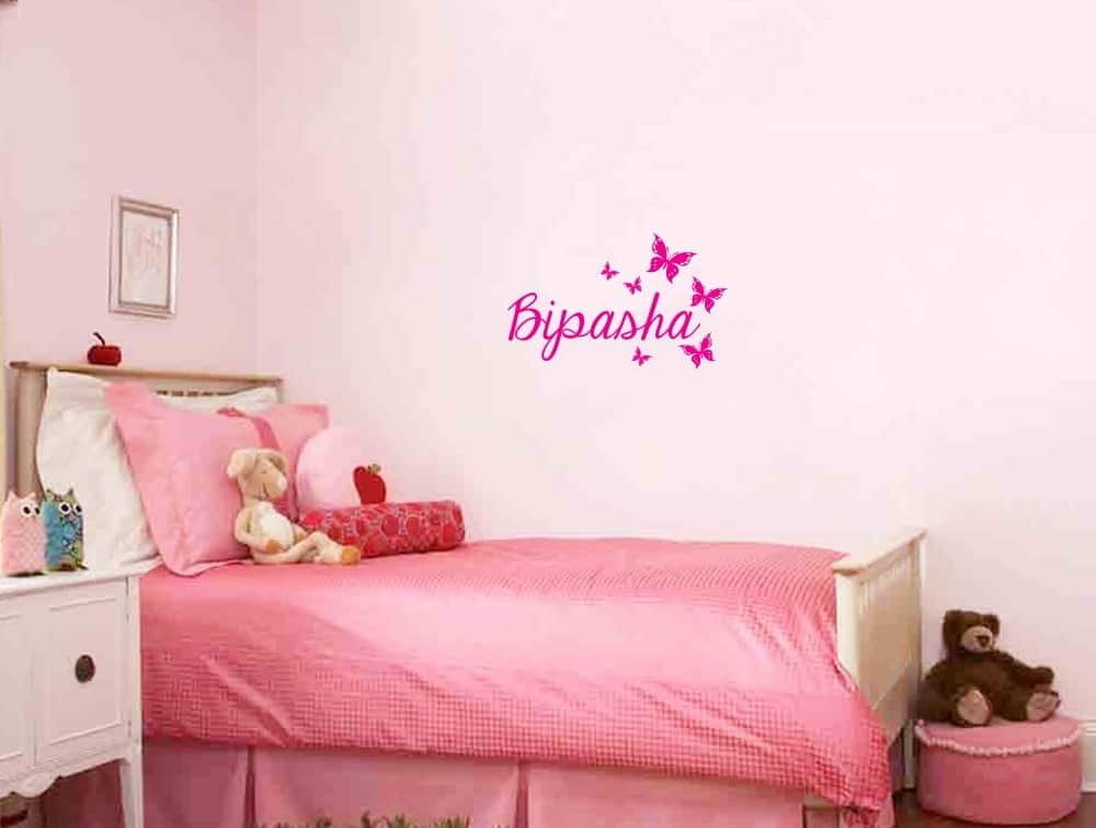 Butterfly with Name Kids2 room decal