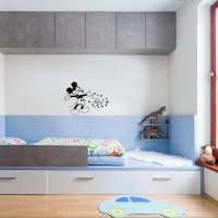 Mad about Mickey & Minnie Kid3 room sticker