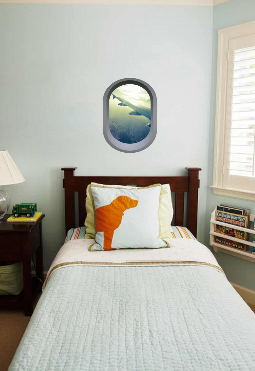 Aeroplane window illusion Bedroom sticker