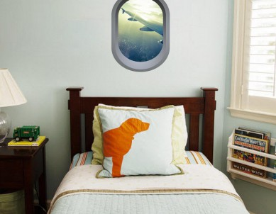 Aeroplane window illusion Wall Sticker