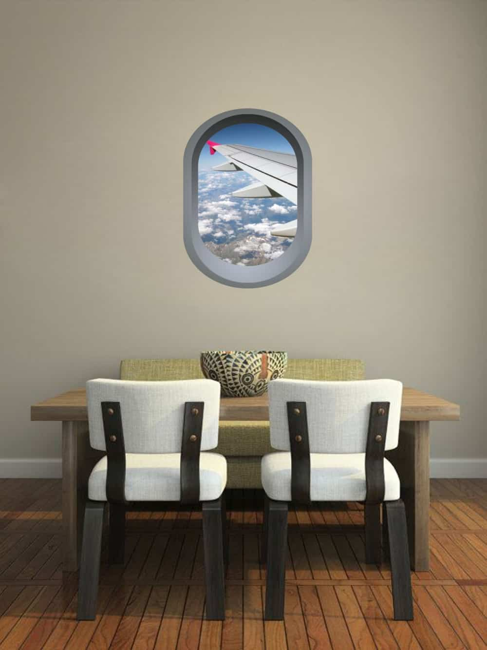 Aeroplane window illusion Dining room decal