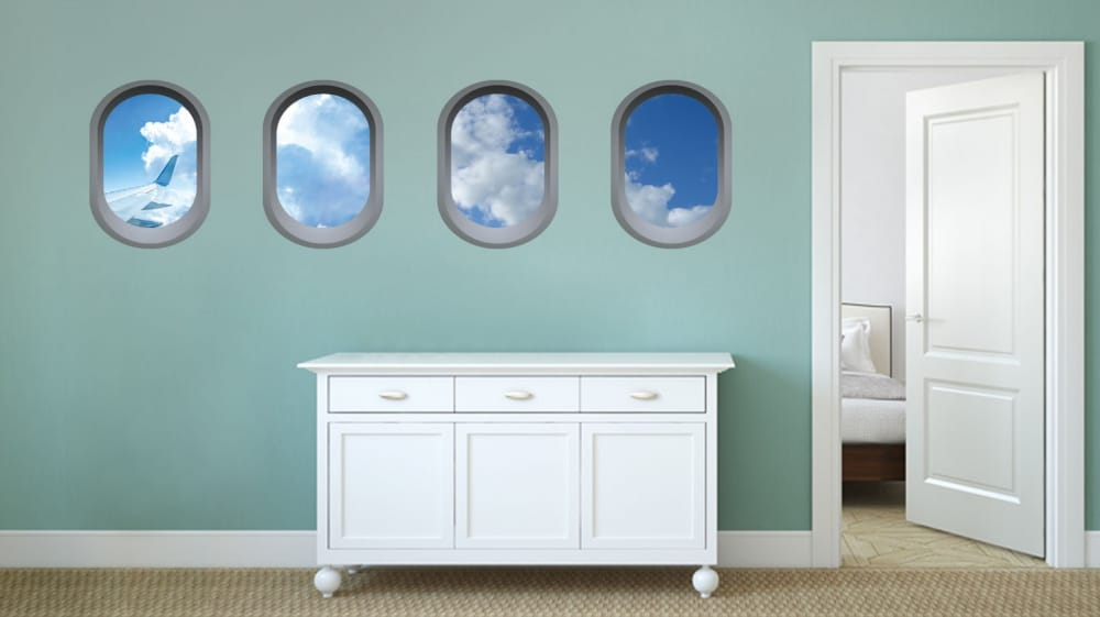 Aeroplane window illusion Universal2 room decal