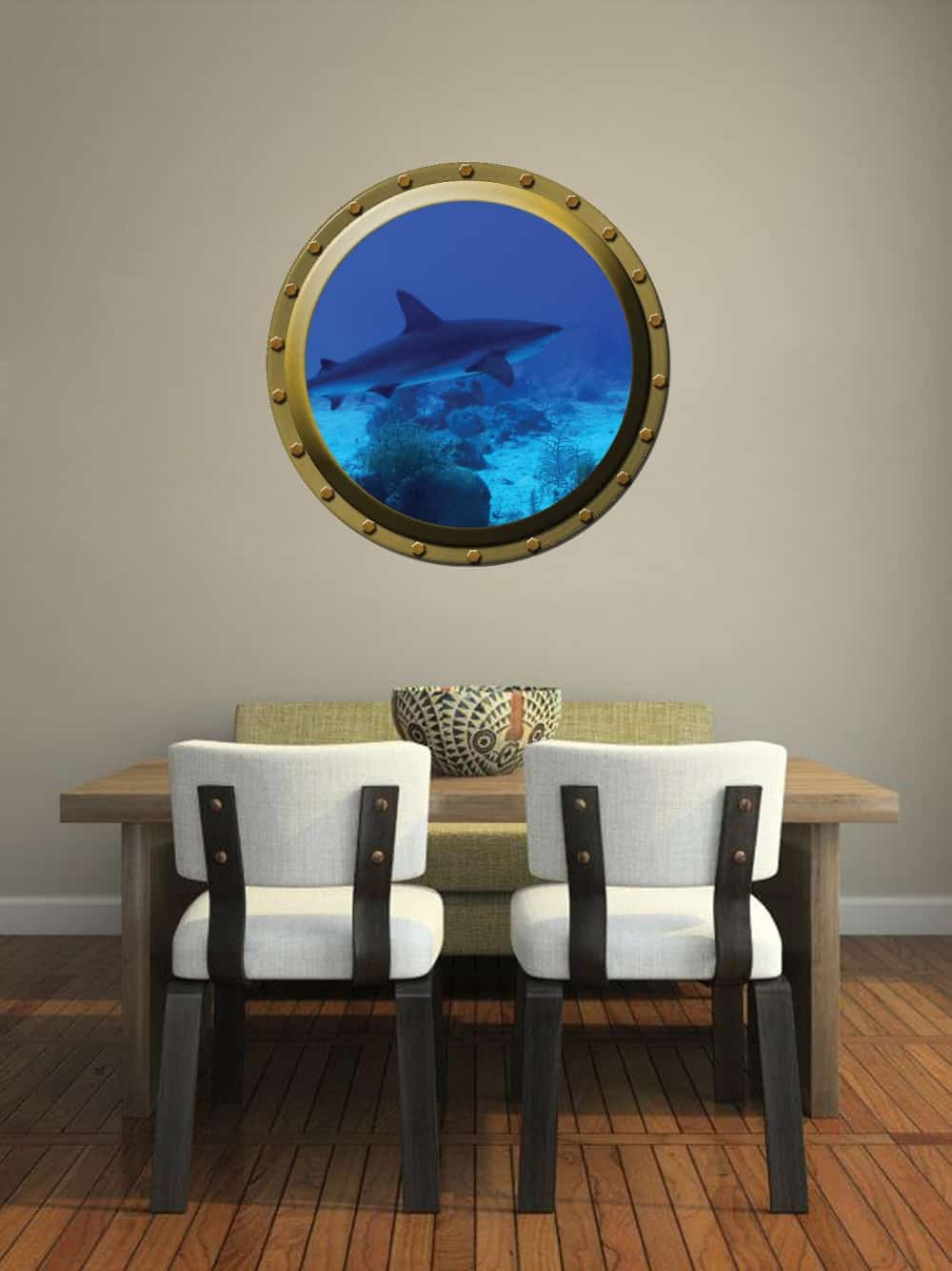Submarine window illusion Dining room sticker