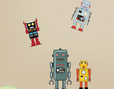 Build your own Robot Wall Sticker