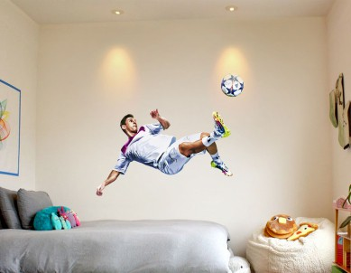Messi oil Paint Wall Sticker