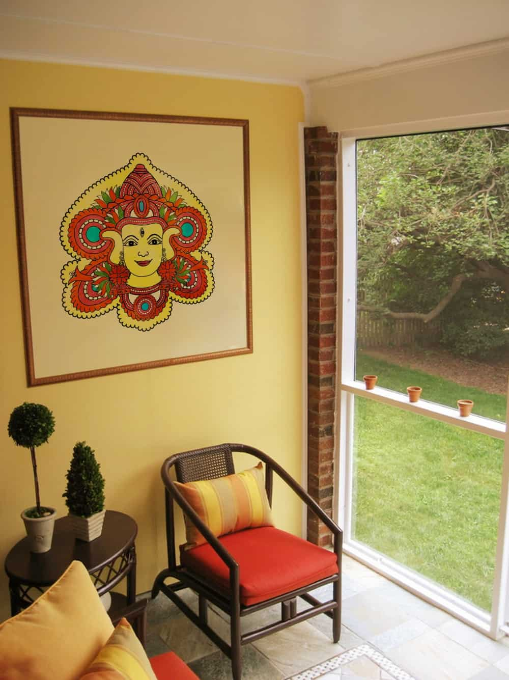 Durga water colour Living room decal