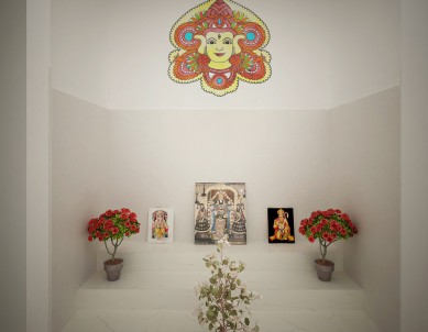 Durga water colour Wall Sticker