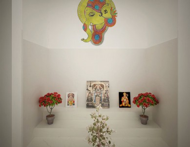 Ganesha water colour Wall Sticker