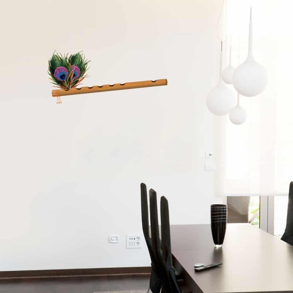 Hare Krishna flute Dining room decal