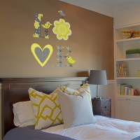 Sweet Love Word Yellow Bedroom decal