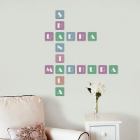 Colorful Square Letters Crossword Universal room sticker