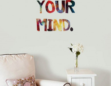 Free your mind Wall Sticker