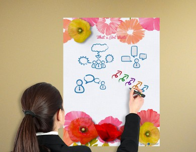 What a Girl Wants Writing Film Wall Sticker