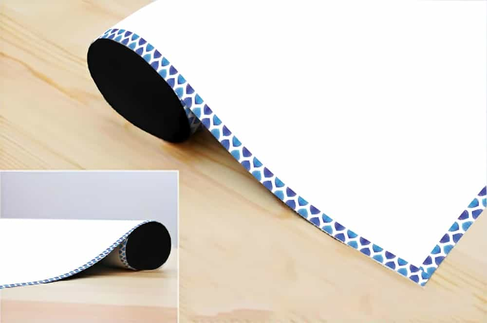 WDPRVNST0011 Blue Waves Border Writing Film Roll room decal