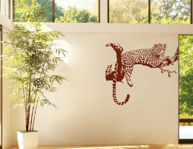 Leopard on the Tree Wall Sticker