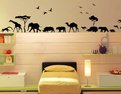 Animals Parade Wall Sticker