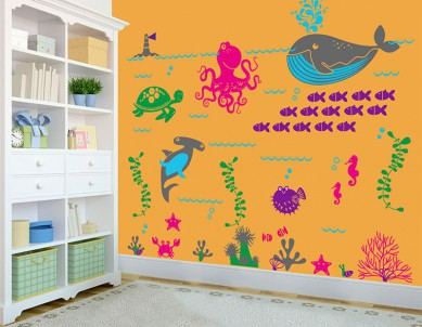 Underwater Colours Wall Sticker