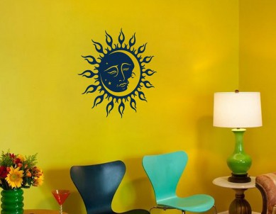 Sun and Moon Wall Sticker