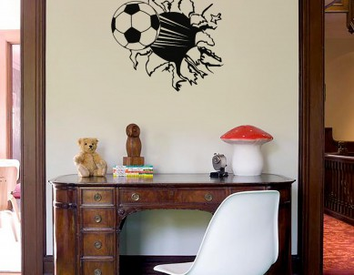 Football Burst Wall Sticker