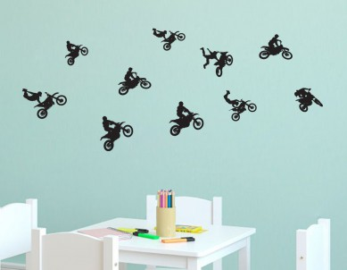 Cross Motor Biking Wall Sticker