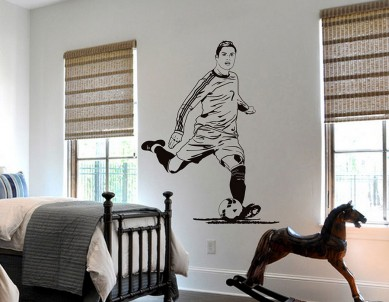 Cristiano Ronaldos Football Shadow Wall Sticker