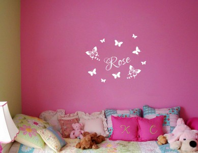 Butterfly with Name Wall Sticker