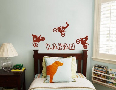 Motobiking Wall Sticker