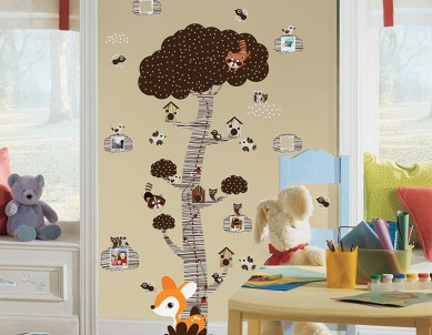 Mystical Forest Family Tree Wall Sticker