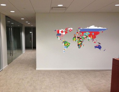 Flag Map Wall Sticker