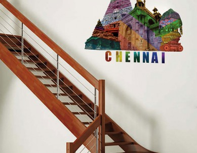 Catchy Chennai Wall Sticker