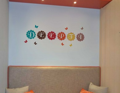Blooming Letters Wall Sticker