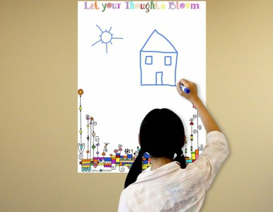 Let your Thoughts Bloom Writing Film Wall Sticker