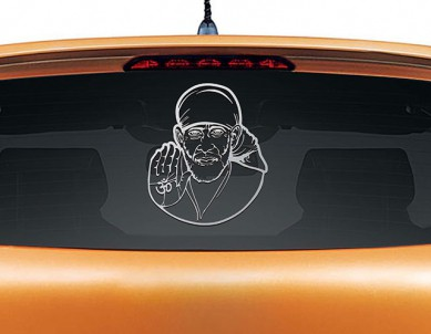 Sai Baba Car Rear Glass Sticker