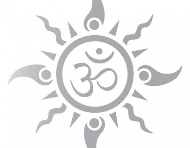 Om Sun Tattoo Car Rear Glass Sticker