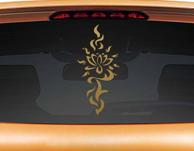 Lotus Bindi Car Rear Glass Sticker
