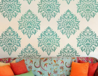 Radiating Seed Paint Stencil