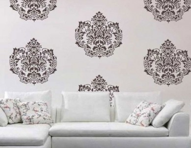 Crown Damask Paint Stencil