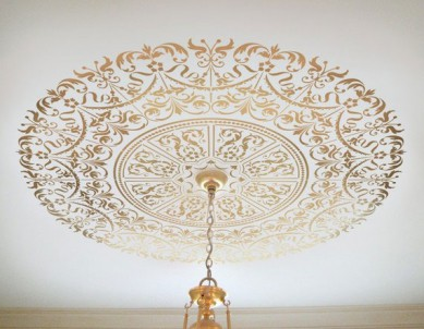 Ornate Medallion Paint Stencil