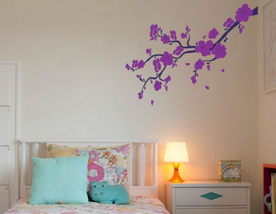 Wild Paradise Flower Branch Wall Sticker