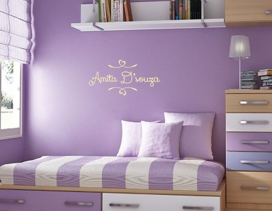 Sweetheart Name Wall Sticker
