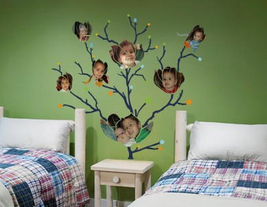 Flower Child Photo Collage Wall Sticker