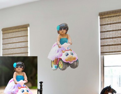 Crayon Painting Photo Wall Sticker