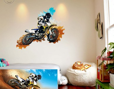 Dynamic Passion Wall Impression Sticker
