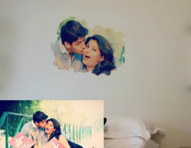 Cloud Photo Frame Wall Sticker
