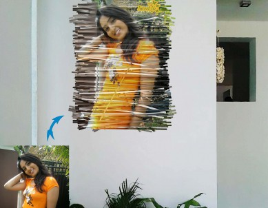 Paper Art Photo Wall Sticker